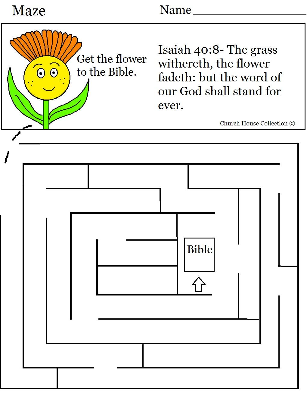 Flower Sunday School Lesson