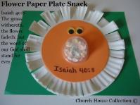 Flower Sunday School Lesson- Flower paper plate snack