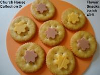 Flower Sunday school lessons- Flower Snacks- Flower Cracker Snacks