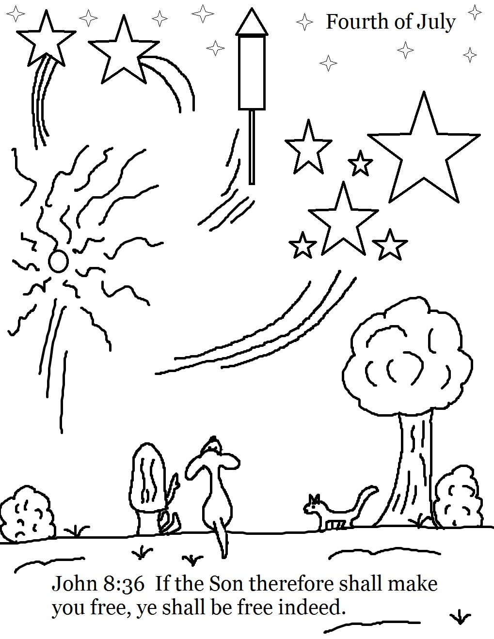 Printable coloring pages july 4 - Coloring Page