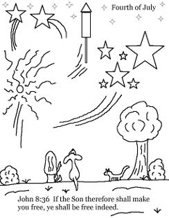 Fourth of July Sunday School Lesson For Kdis- Coloring Page for Sunday School