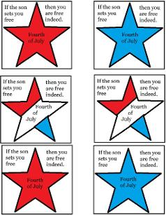 Fourth of July Sunday School Lesson For Kids- Cupcake Template for Sunday school
