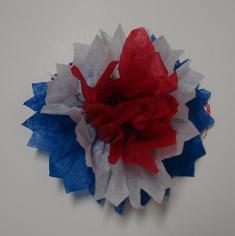 Fourth of July Sunday School Lesson For Kids- Flower Craft