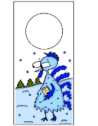 Cold FrozenBlue Turkey Carrying Bible walking in snow doorknob hanger printable template free Thanksgiving Sunday school childrens church kids