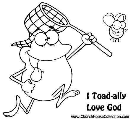 Frog I Toad-ally Love God Coloring Page For Sunday School Kids- Free by Church House Collection