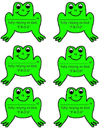 Printable Frog Name Tags