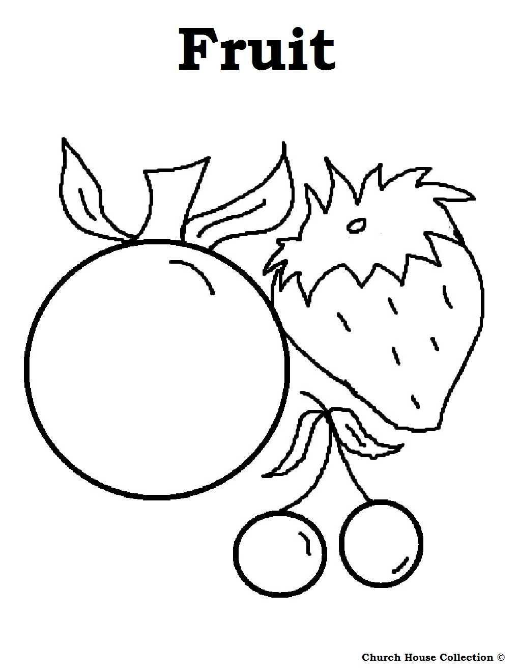 Food coloring pages for kids for Fruit coloring pages for kids
