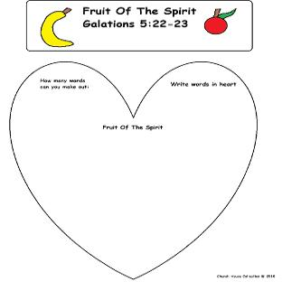 Free Fruit of The Spirit Sunday School Lesson For Kids By Church House Collection©