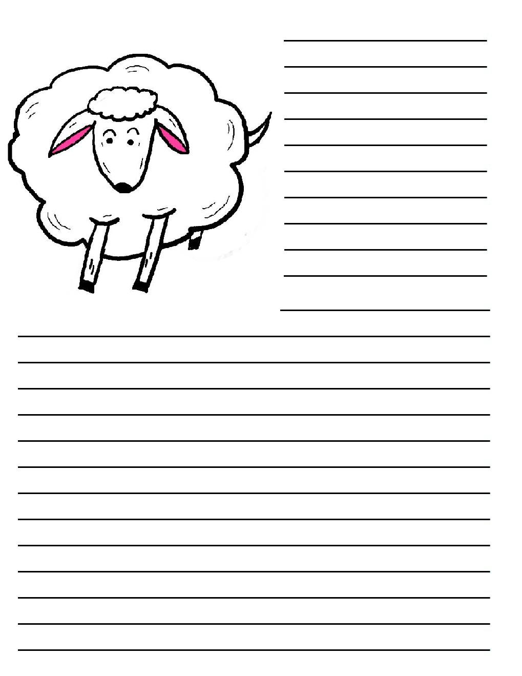Shepherds and Sheep Printable Writing Paper