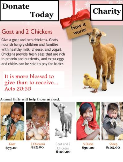 Donate A Goat Donation Box Template