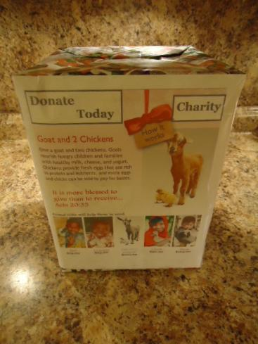Give a goat charity box