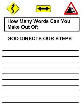 God Directs Our Steps  Word In A Word
