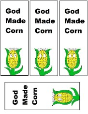 God Made Corn Bookmarks