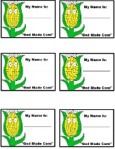 God Made Corn Name Tags