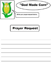 God Made Corn Prayer Request