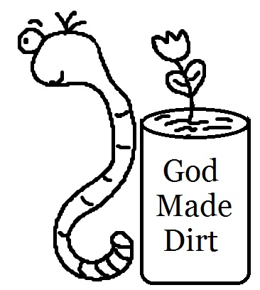 God Made Dirt Worm Clipart