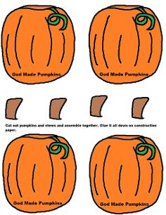 Pumpkin Activity Sheet For Kids by Church House Collection- Pumpkin Cutout Printable Template Activity Worksheets For preschool kids