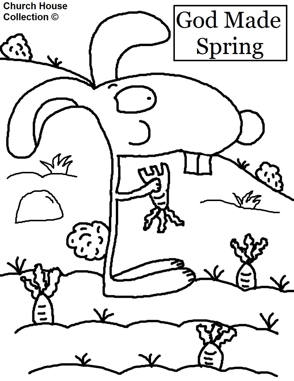 god made coloring pages - photo#11