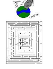 God Created The Heaven and Earth Maze