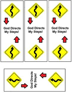 God's Road Sign Bookmarks