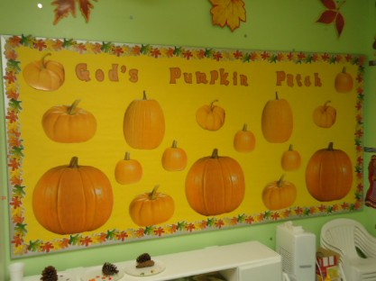 God's Pumpkin Patch Bulletin Board Idea