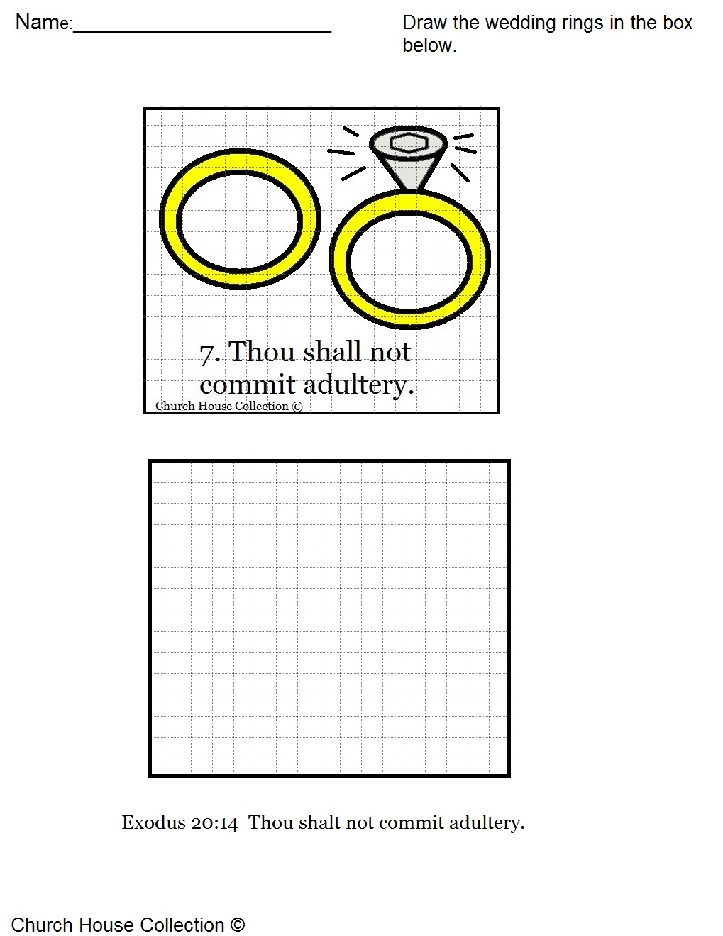 Thou Shalt Not Commit Adultery Lesson Plan – Ten Commandments Worksheets