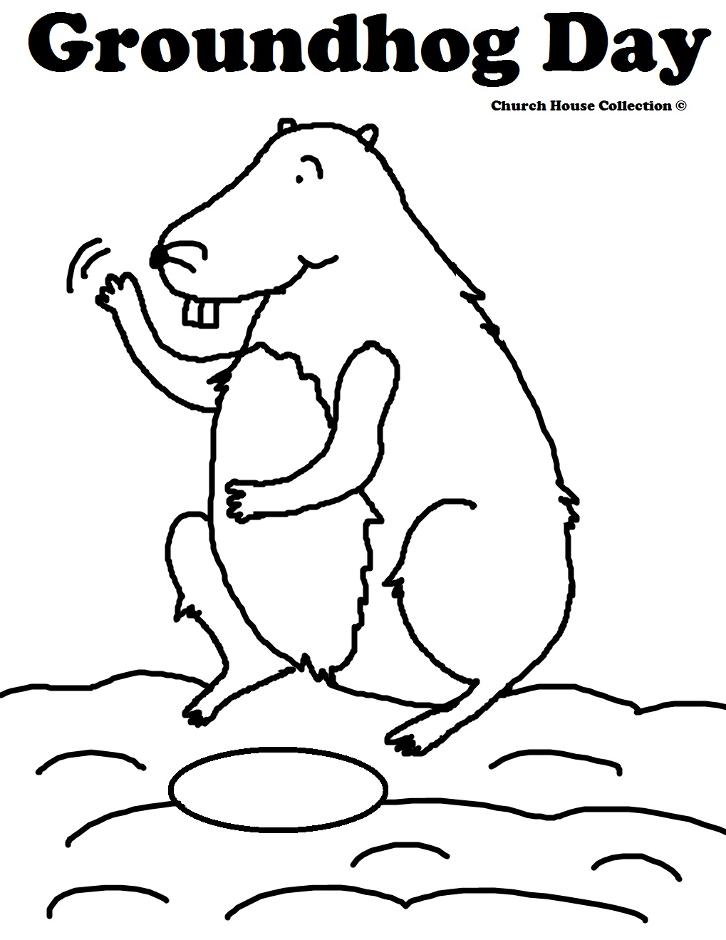 groundhog day coloring pages groundhog waving