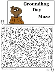 Groundhog Day Mazes For School