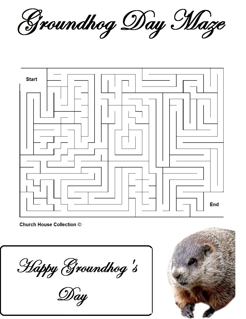 Groundhog Day Mazes For School – Groundhog Day Worksheets Free