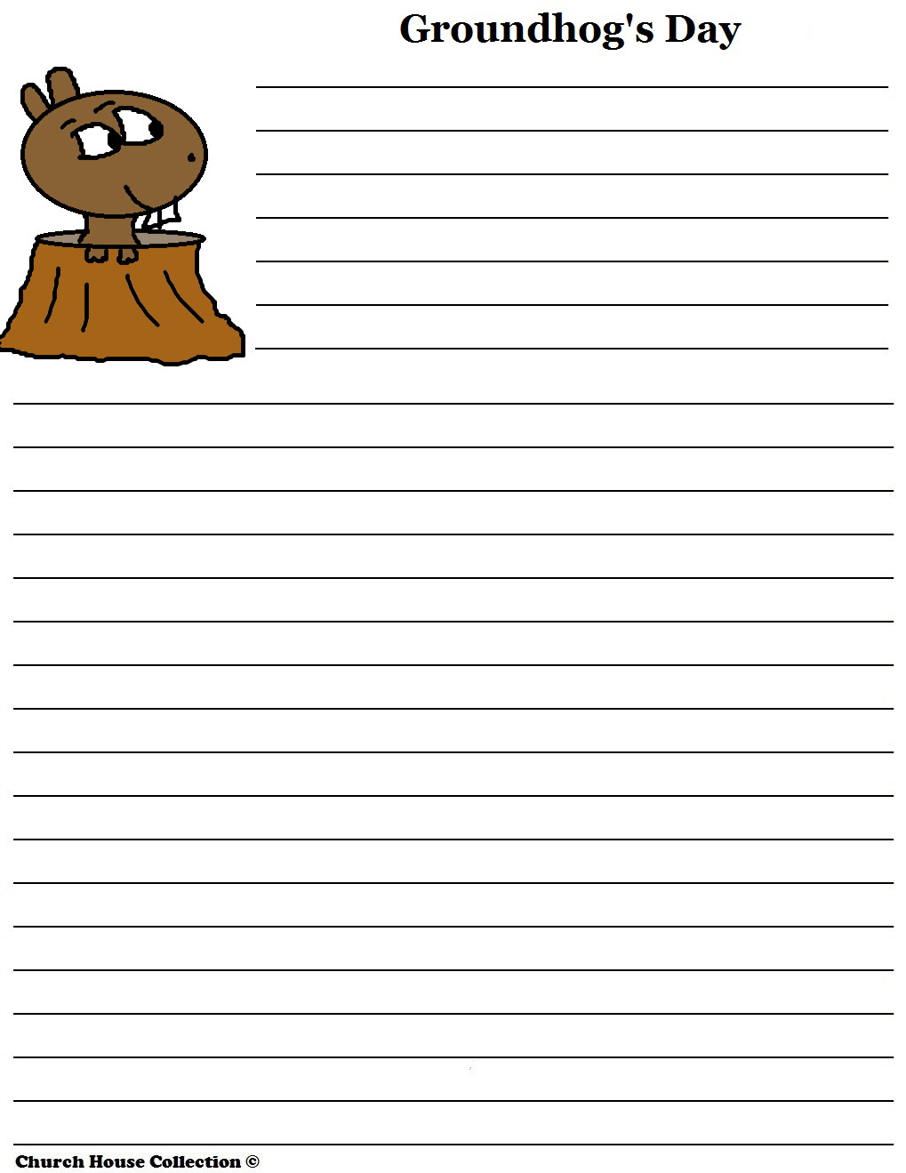 groundhog day writing paper for school groundhog day writing paper for school words