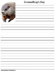 Groundhog Writing Paper For School