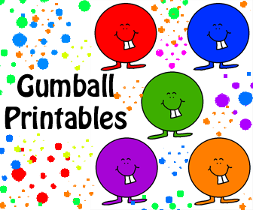 Gumball Printables and Templates for Kindergarten cubby ideas. Or use for DIY birthday food label cards. Name tags etc.