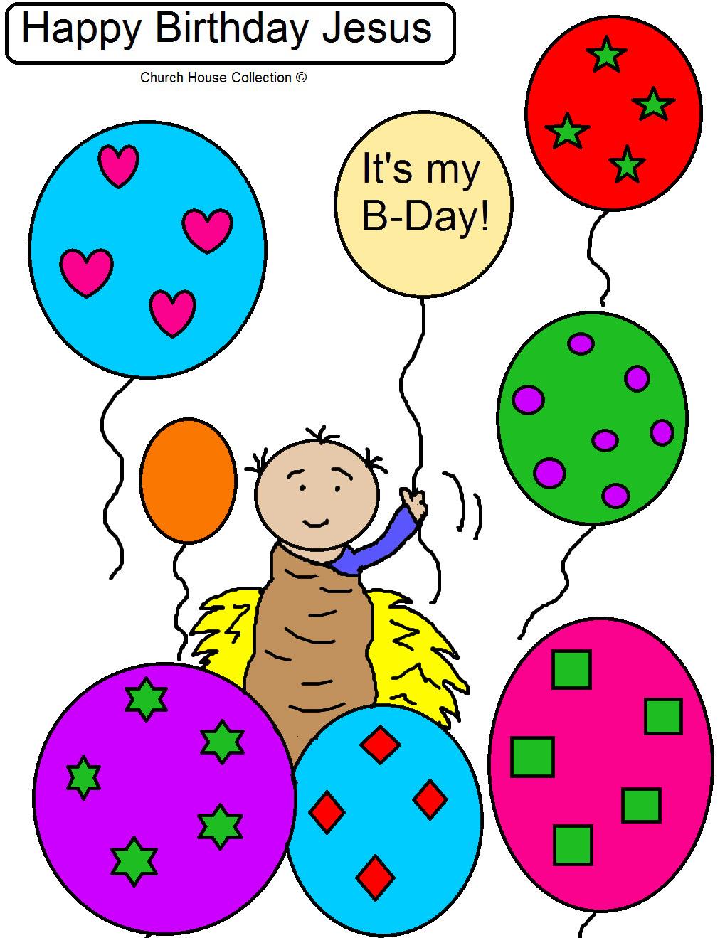 Happy Birthday Jesus Free Coloring Page | Fun365 | 1319x1019
