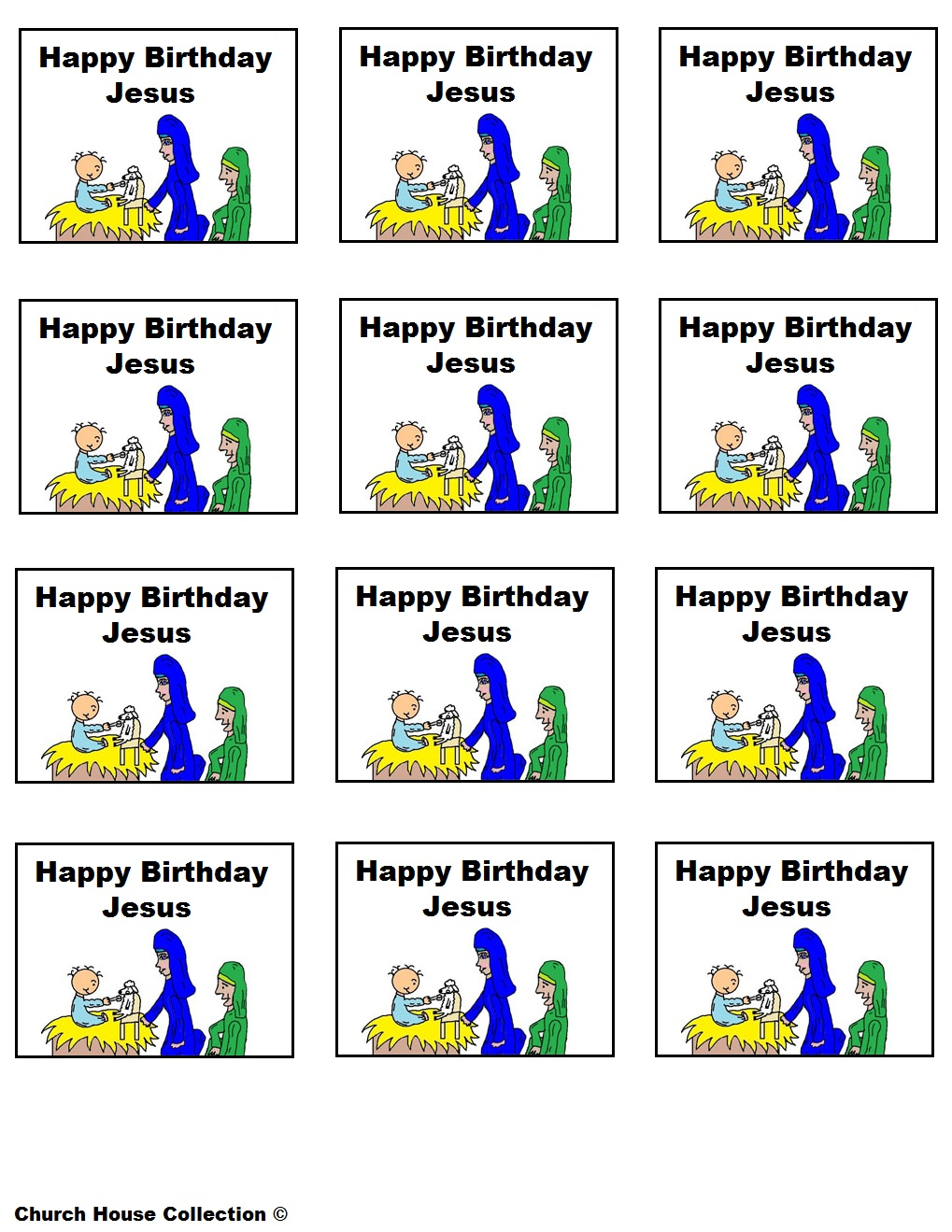 Happy Birthday Jesus Sunday School Lesson – Happy Birthday Word Template