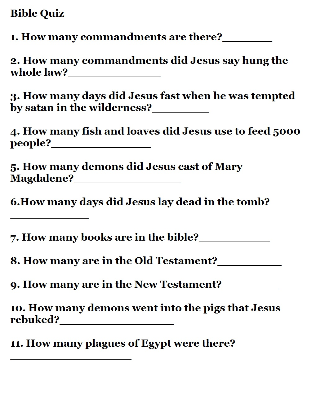 graphic about Spring Trivia Questions and Answers Printable known as Printable Bible Quizzes