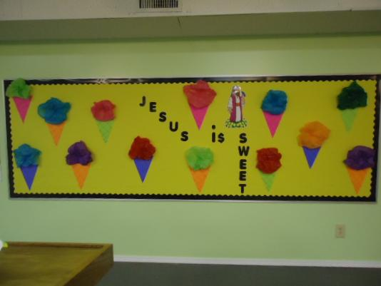 Ice Cream Cone Bulletin Board Idea