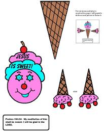 Ice Cream Cone Picture Frame Craft