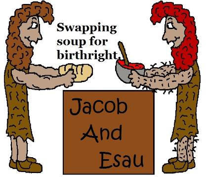 Jacob and Esau Clipart Pictures for Sunday School