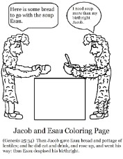 Coloring Pages Jacob And Esau Exchange