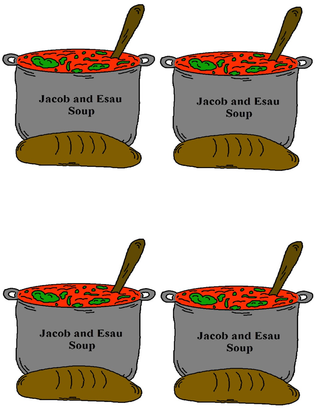 Large Jacob and Esau Templates-color