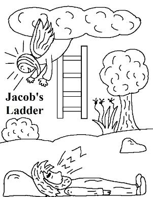 Jacob's Ladder  Coloring Page