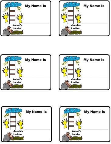 Jacob's Ladder Name Tags