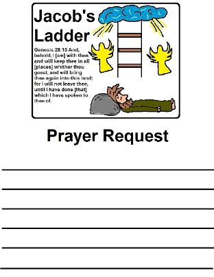 Jacob's Ladder Printable Prayer Request
