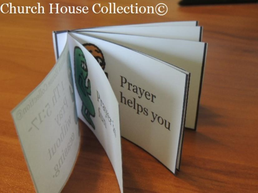 Jelly Bean Prayer Booklet Cutout For Kids for Easter