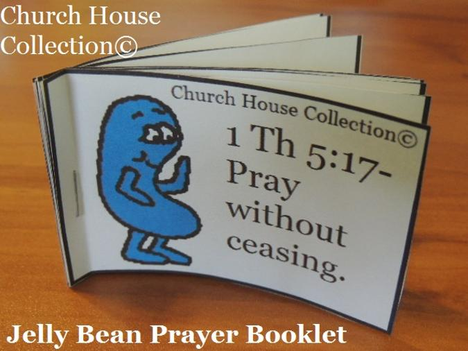 Jelly Bean Prayer Booklet Cutout For Kids for Easter. By Church House Collection©