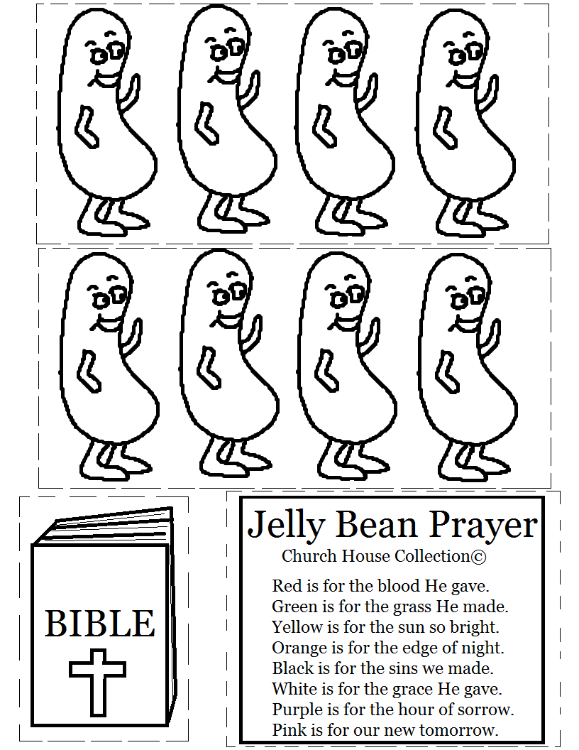 image relating to Jelly Belly Logo Printable known as Jelly Bean Prayer With Bibles Coloring Site
