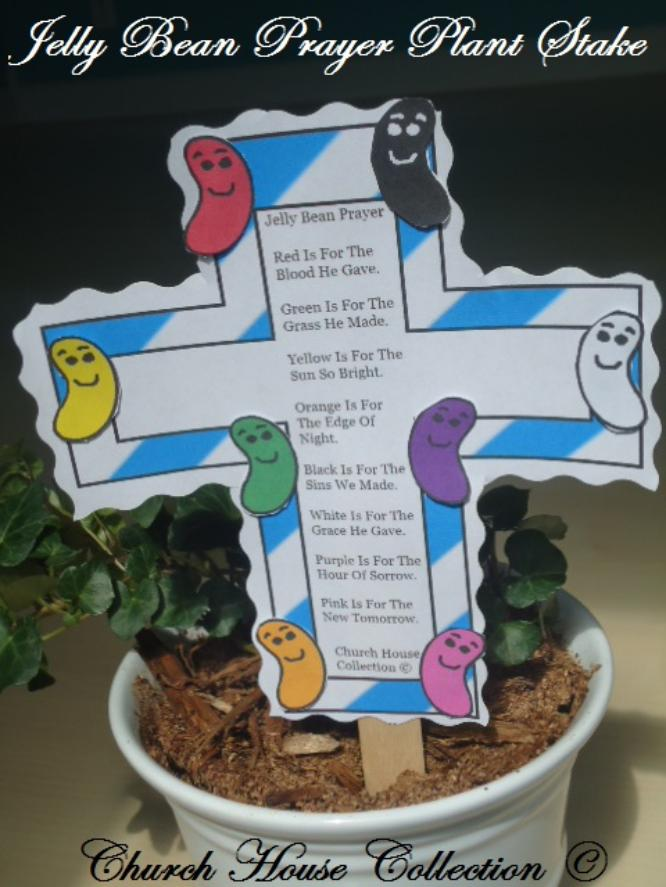 Jelly Bean Prayer Plant Stake Craft For Kids by ChurchHouseCollection.com