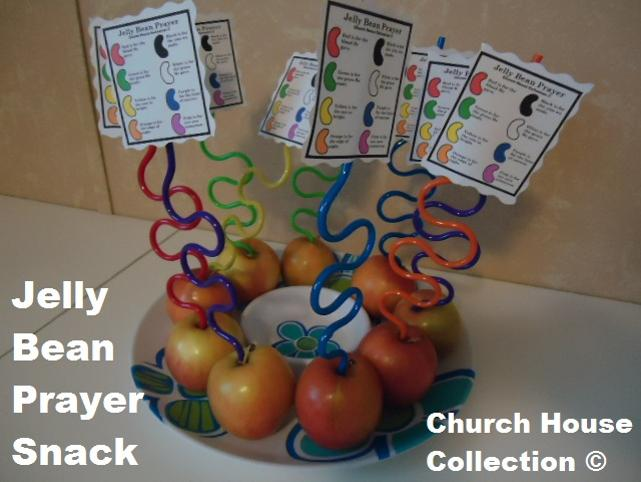 Easter Snacks Jelly Bean Prayer Snacks by ChurchHouseCollection.com Jelly Bean Prayer Snack Ideas With Apples and Silly Straws and a Free Printable Jelly Bean Template Print Out