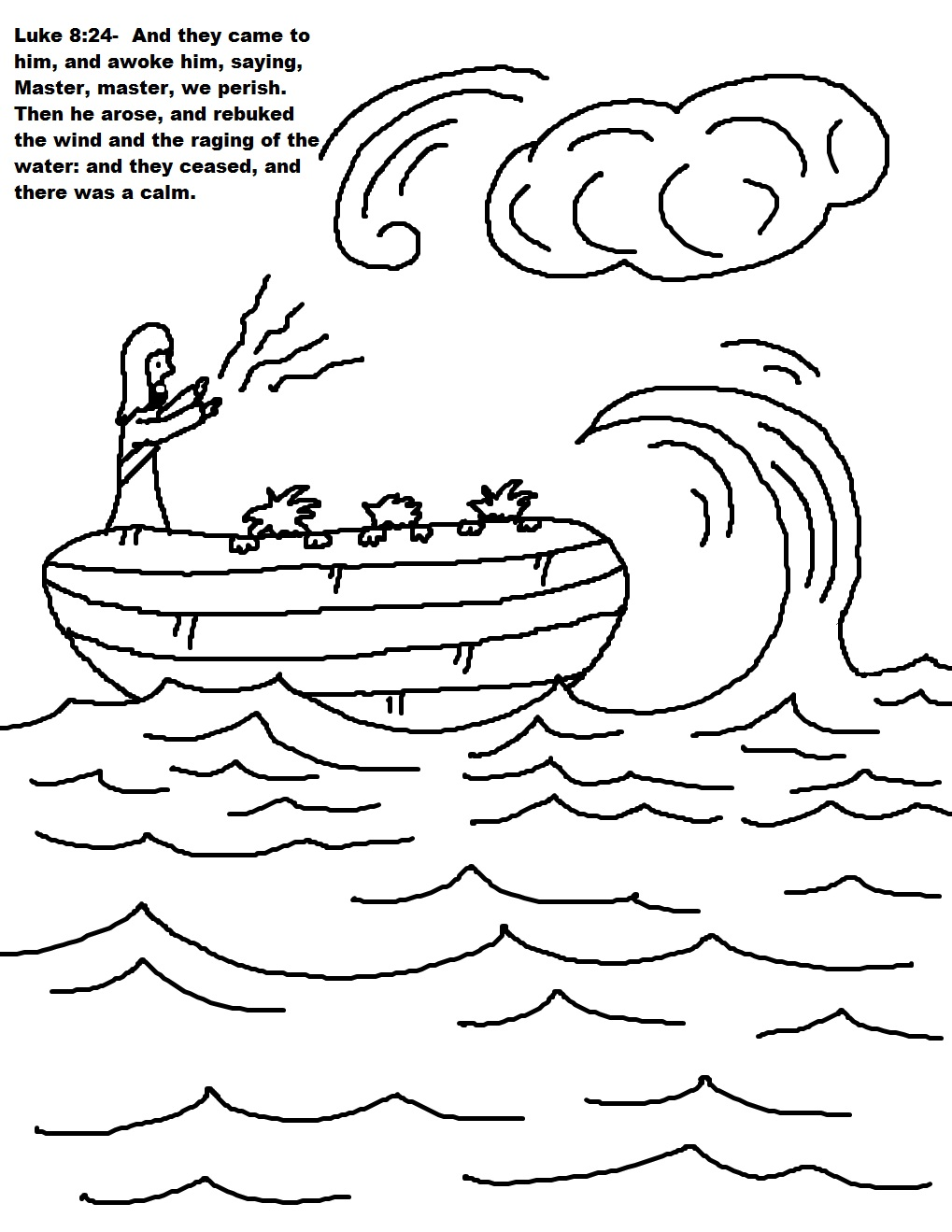 ocean storm coloring pages - photo#31