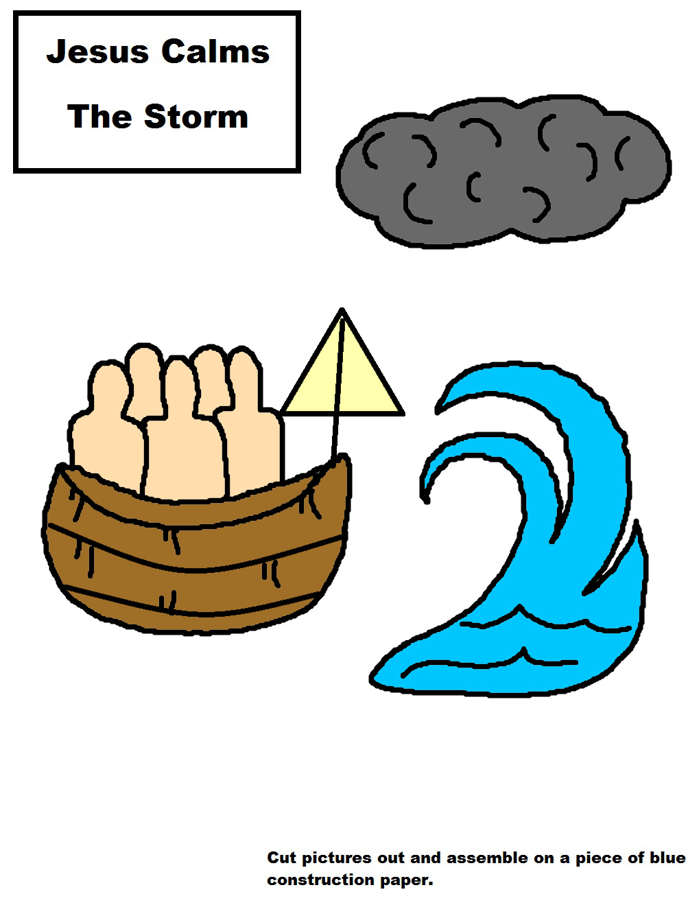 Jesus Calms The Storm Activity Sheet For Kids